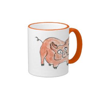Oink dice poco guarro taza de dos colores