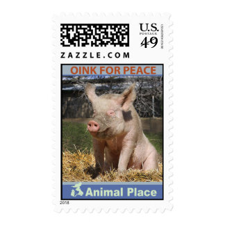 Oink for Peace Postage Stamp