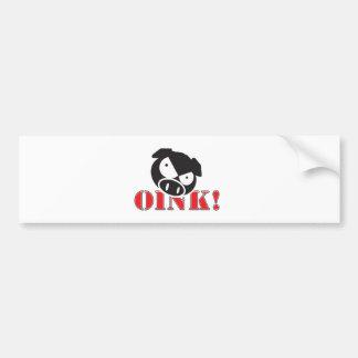 OINK_GraphicReversed Bumper Sticker