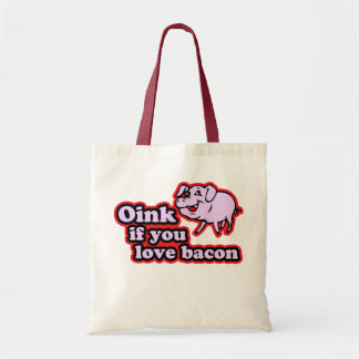Oink if you love budget tote bag