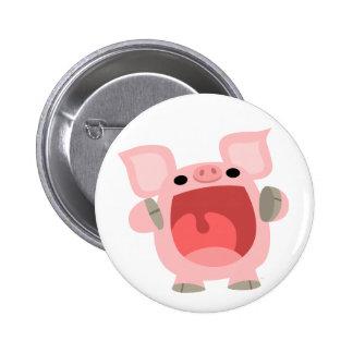 """""""OINK!!!"""" Insignia linda del botón del cerdo del d Pin Redondo De 2 Pulgadas"""