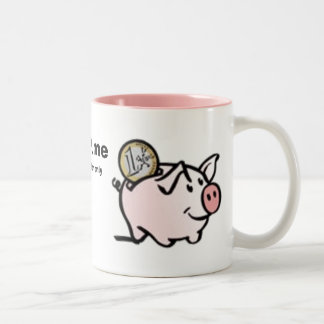 OiNK me, by invitation only Two-Tone Coffee Mug