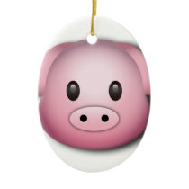 Oink Oink Cute Pig Ceramic Ornament
