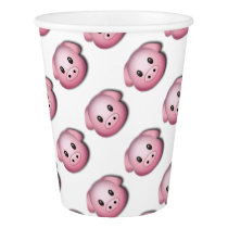 Oink Oink Cute Pig Paper Cup