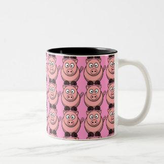 Oink Oink Oink coffee mug! Two-Tone Coffee Mug