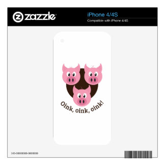 Oink,Oink,Oink! Skin For The iPhone 4S