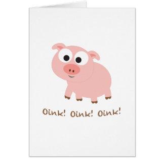 ¡Oink! ¡Oink! ¡Oink! Tarjeta Pequeña