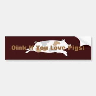 Oink pegatina para el parachoques de los cerdos de pegatina para auto