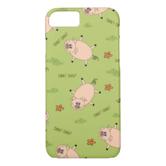 Oink Pig Pattern iPhone 7 Case