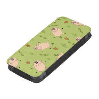 Oink Pig Pattern iPhone SE/5/5s/5c Pouch