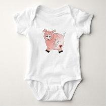 Oink Piggy Baby Bodysuit