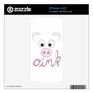 Oink Said the Pig Skin For iPhone 4