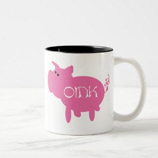 Oink taza rosada del cerdo