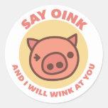 Oink the Piggy Classic Round Sticker