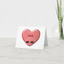 """OINK"" Valentine Card"