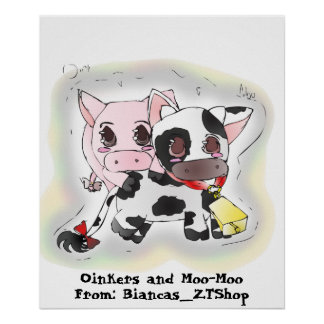 Oinkers and Moo-Moo Poster
