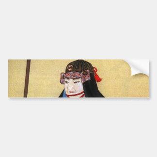 Oishi built-in help bumper sticker