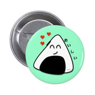 Oishii Onigiri Button (Soft Green)