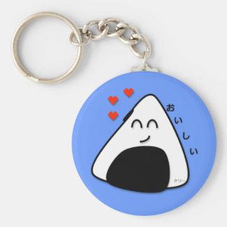 Oishii Onigiri Keychain (Soft Blue)