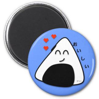 Oishii Onigiri Magnet (Soft Blue)
