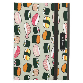 Oishii Sushi Fun Illustrations Pattern (Grey) iPad Air Case