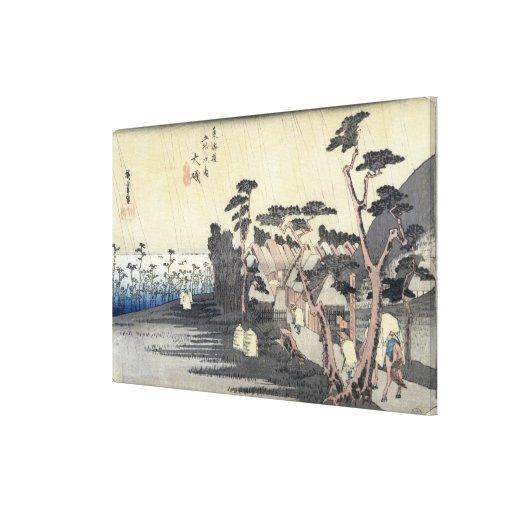 Oiso: Toraga Ame Shower Canvas Print
