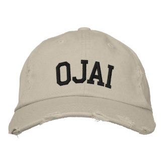 Ojai Embroidered Hat Embroidered Baseball Caps