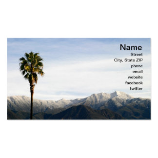 Ojai Palm Double-Sided Standard Business Cards (Pack Of 100)