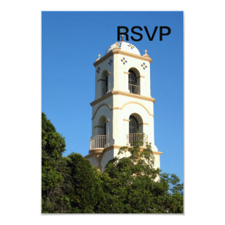 Ojai Post Office Tower 3.5x5 Paper Invitation Card