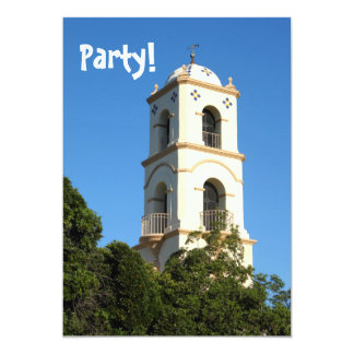 Ojai Post Office Tower 5x7 Paper Invitation Card