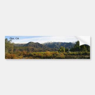 Ojai Valley With Snow Car Bumper Sticker