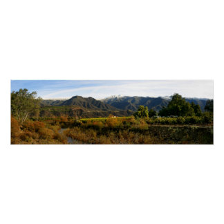 Ojai Valley With Snow Canvas Poster
