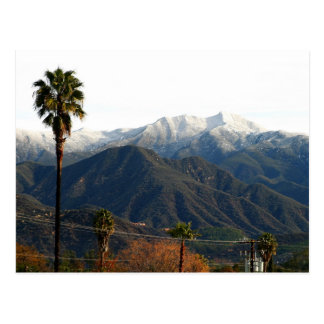 Ojai Valley With Snow Post Cards