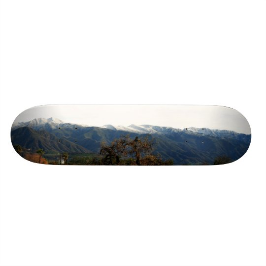 Ojai Valley With Snow Skateboard