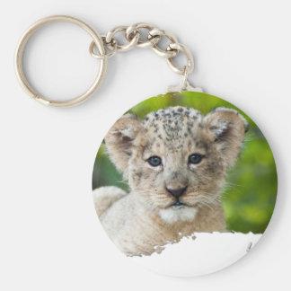 Ojatro Lion Cub 01 Basic Round Button Keychain