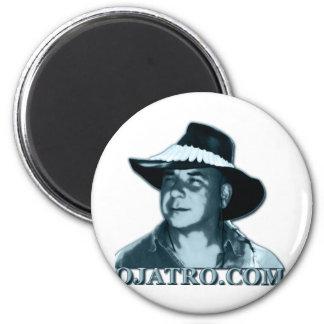 Ojatro Logo Blue 2 Inch Round Magnet