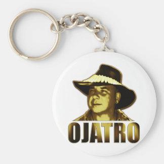 Ojatro Logo in Gold Basic Round Button Keychain