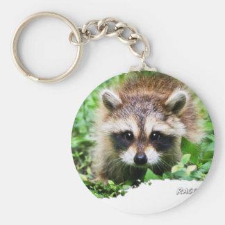 Ojatro Raccoon Kit 01 Basic Round Button Keychain