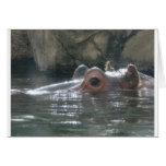 Ojeada del hipopótamo un abucheo tarjeta de felicitación