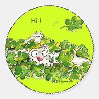 Ojeada del St. Patricks un pegatina del día del