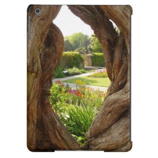 Ojeada en la caja del aire del iPad del jardín Funda Para iPad Air