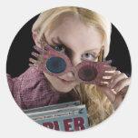 Ojeadas de Luna Lovegood sobre los vidrios Pegatina Redonda