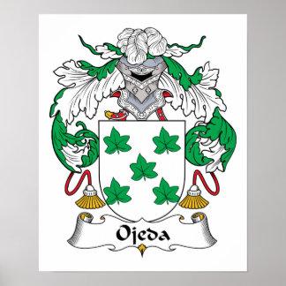 Ojeda Family Crest Poster