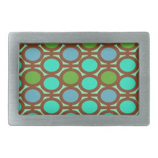 Ojeteador verdes y azules de la burbuja hebillas de cinturon rectangulares