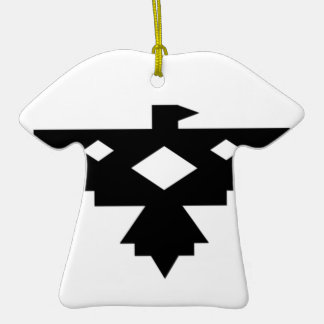 Ojibwa Thunderbird Double-Sided T-Shirt Ceramic Christmas Ornament