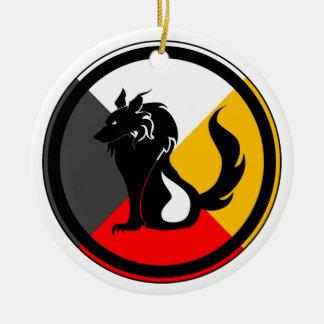 Ojibway Dodem Ma' iingan Ceramic Ornament
