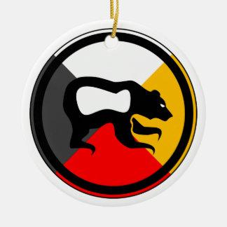 Ojibway Dodem Makwa Double-Sided Ceramic Round Christmas Ornament