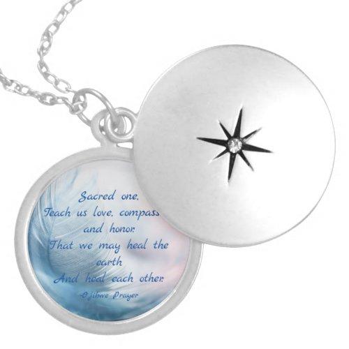 Ojibwe (Chippewa) Healing Prayer Locket Necklace