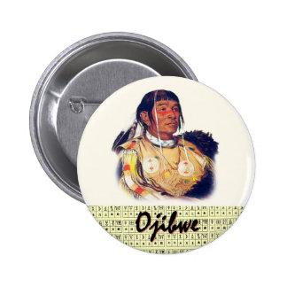 Ojibwe Pinback Button