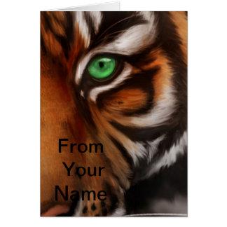 Ojo 2 del estampado de animales del tigre de Benga Tarjeta Pequeña